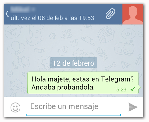 Telegram Chat Normal
