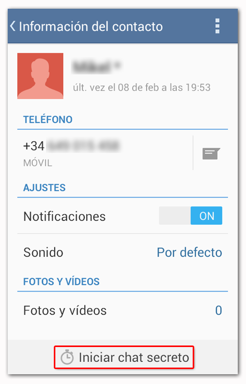 Telegram Iniciar Chat Secreto