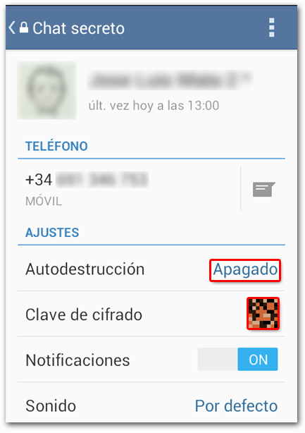 Telegram Chat Secreto Autodestrucción
