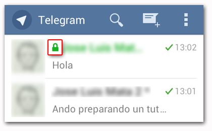 Telegram Diferencias entre Chats