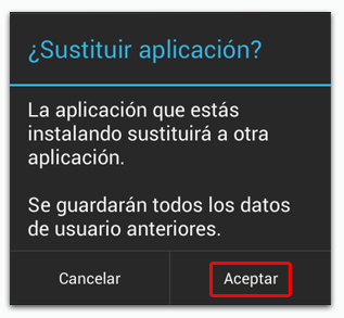 WhatsApp Android Sustitucion