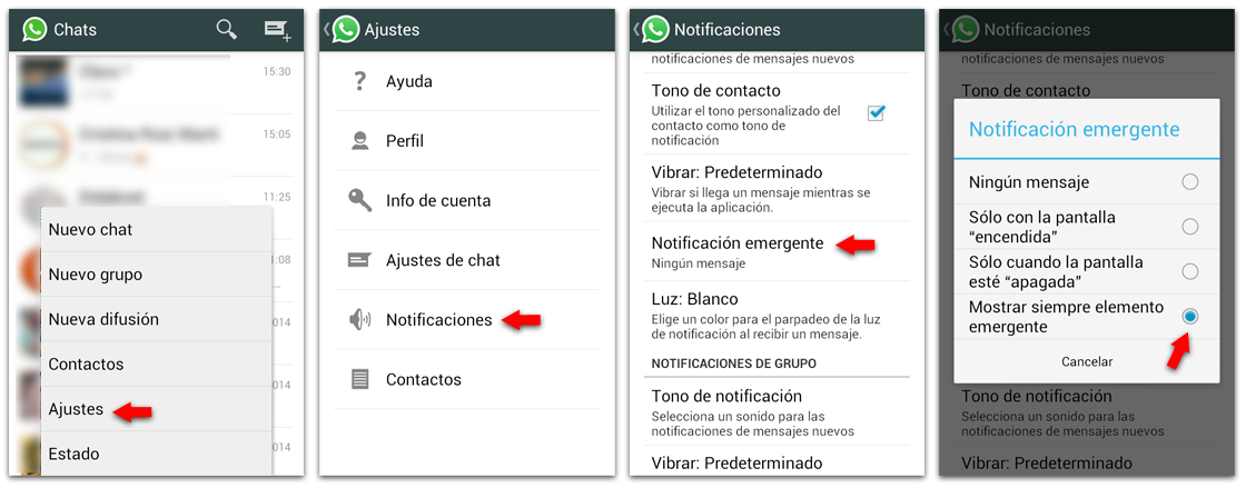 WhatsApp Notificaciones Android