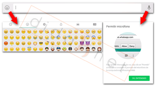WhatsApp Web Chat Audio Emoticonos